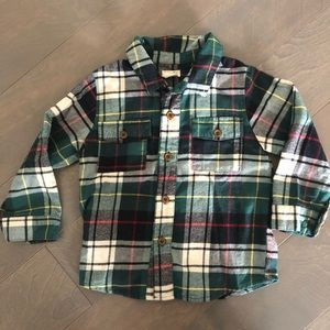 Holiday Plaid button down flannel -Blue Rooster